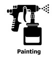 spray gun icon simple black style vector image vector image