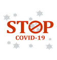 stop covid19 vector image