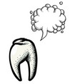 tooth icon dentistry symbol-100 vector image