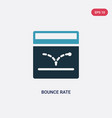 Two color bounce rate icon from technology