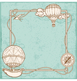 Vintage frame with air balloons vector image vector image