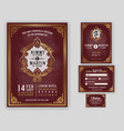 vintage luxurious wedding invitation on vector image vector image