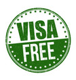 visa free sign or stamp vector image