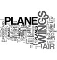 what makes an aeroplane fly text word cloud vector image vector image