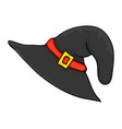 witch hat cartoon symbol icon design beautiful vector image vector image
