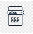 xlsx concept linear icon isolated on transparent vector image