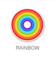 rainbow logo vector image