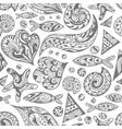 sketch sea pattern vector image