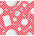 Dishes seamless pattern vector image