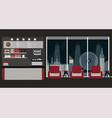 modern flat design coffee shop interior vector image