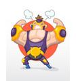 cute cartoon wrestler vector image
