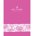 Pink lillies lineart vertical torn seamless vector image