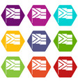 african flag icons set 9 vector image vector image
