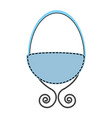 baby crib drawing icon vector image vector image