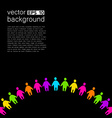 background template with colorful people vector image vector image