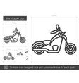 bike chopper line icon vector image vector image