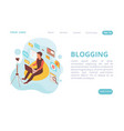 blogging isometric web page vector image vector image
