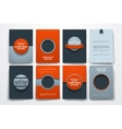 brochures with doodles backgrounds on Mardi vector image