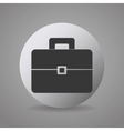 Business briefcase round icon vector image