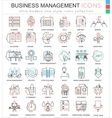 Business management ultra modern color vector image vector image
