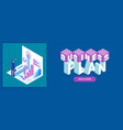business plan banner vector image