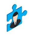 Businessman in a puzzle piece icon vector image vector image
