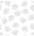 carnation outline background vector image vector image