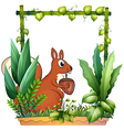 cartoon squirrel vector image vector image