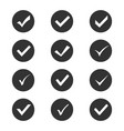 check mark set vector image