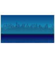 City Skyline waterfront Night vector image