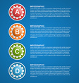 Color gears infographics design template vector image vector image