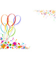 Colored Party Balloons vector image vector image