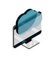 computer cloud computing storage data device vector image