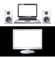 computer isolated on white background vector image vector image