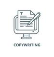 copywriting line icon linear concept vector image vector image