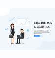 data analysis and statistics poster vector image vector image