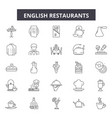 english restaurants line icons signs set vector image vector image