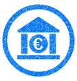 euro bank rounded icon rubber stamp vector image vector image