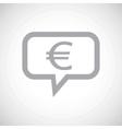 Euro grey message icon vector image vector image