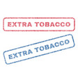 extra tobacco textile stamps vector image vector image