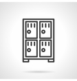 Four lockers black line icon vector image