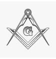 Freemasonry emblem logo with G great architect vector image vector image