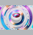futuristic abstract template with innovative vector image vector image