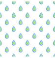 green leaves inside water drop pattern vector image vector image