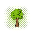 Green tree comics icon vector image