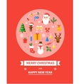 Greeting Christmas Card New Year symbols - vector image vector image