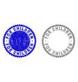 grunge for children textured stamp seals vector image vector image