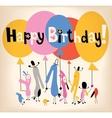 Happy Birthday card 2 vector image vector image
