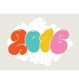 Happy new 2016 year bubble styled lettering vector image