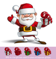 happy santa salute with a gifts vector image vector image